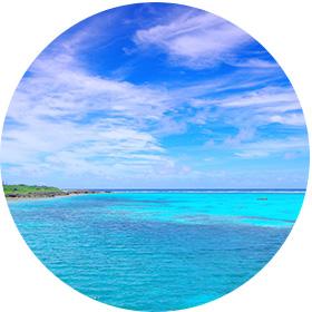沖縄の海で海洋散骨