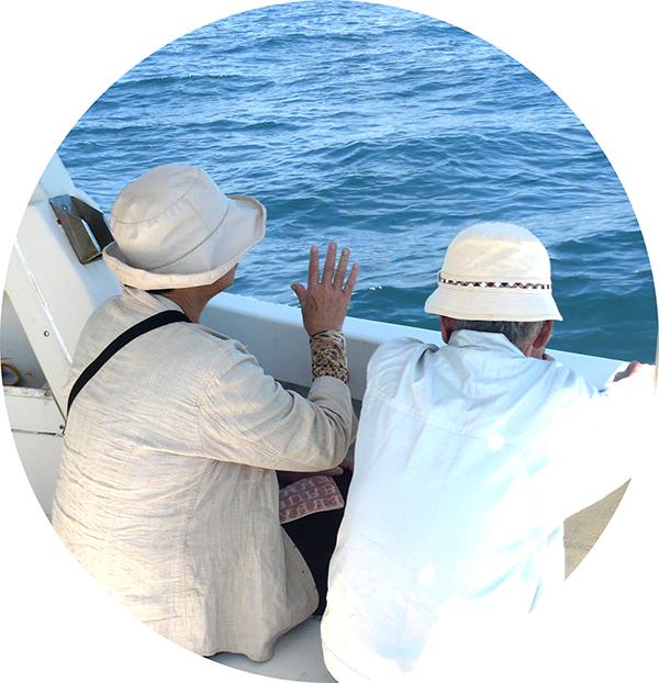 海洋葬合同プランで流れの海域旋回
