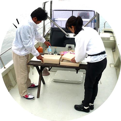 海洋葬代行委託プランで流れの出航