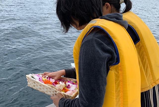 宮津・舞鶴での海洋散骨