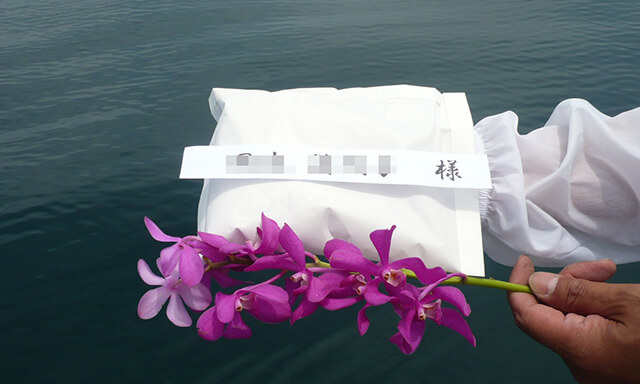 静岡県駿河湾での散骨
