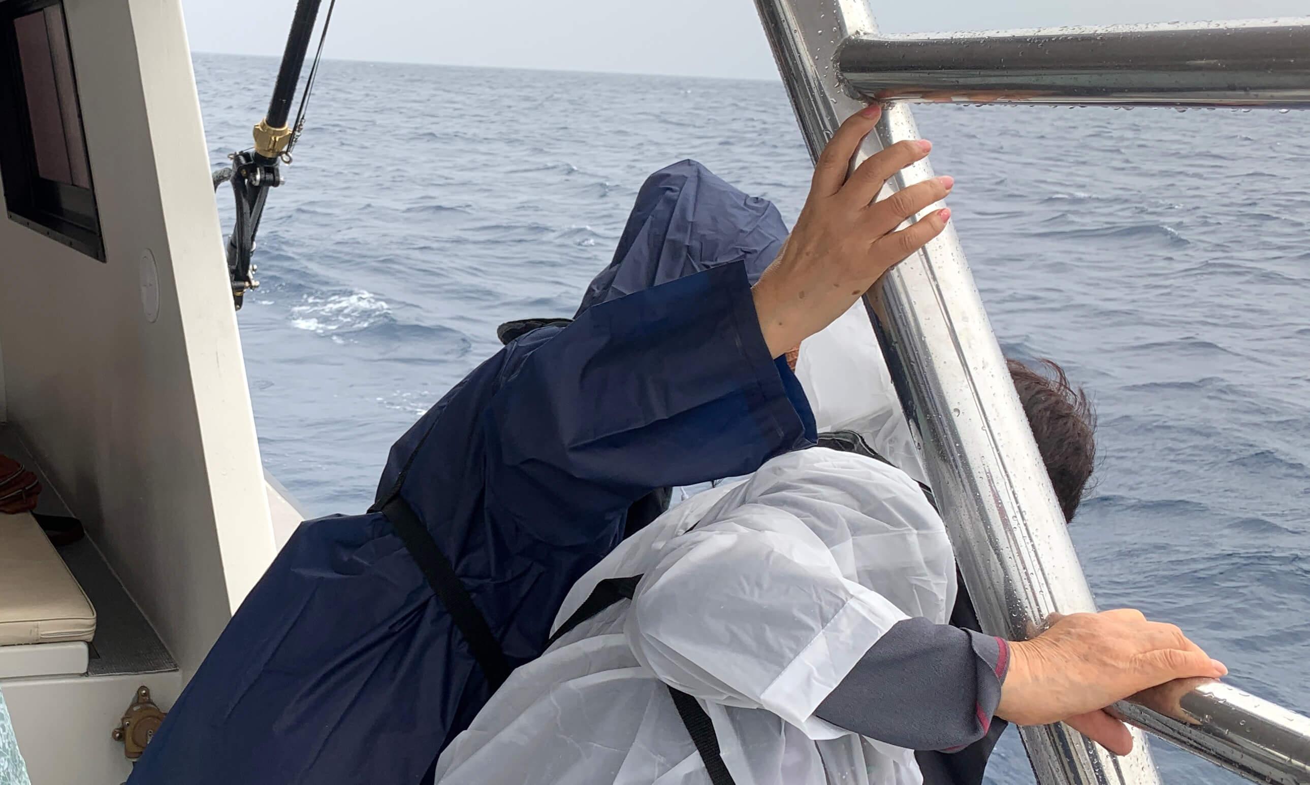 沖縄での散骨の様子