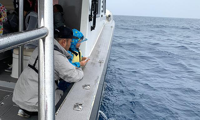 沖縄での海洋散骨の様子