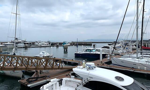 福岡の海洋散骨業者の港
