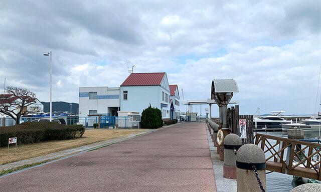 福岡の海洋散骨業者の船移動