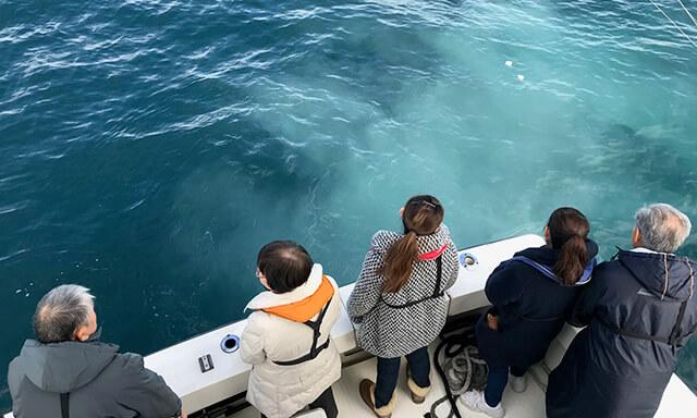 神奈川・葉山の海洋散骨業者の船上
