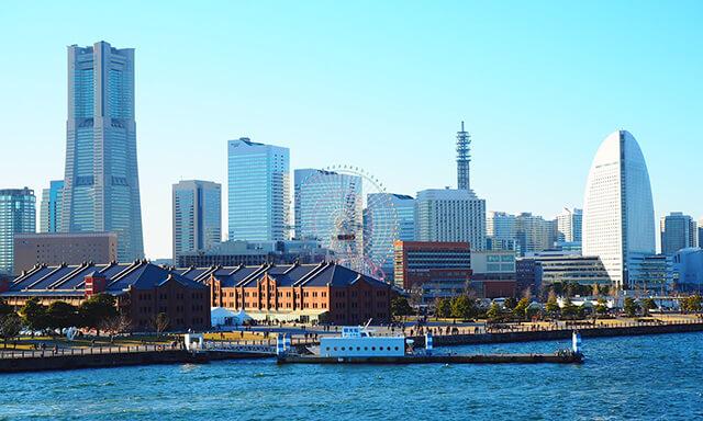 神奈川・横浜の海洋散骨業者の街並み