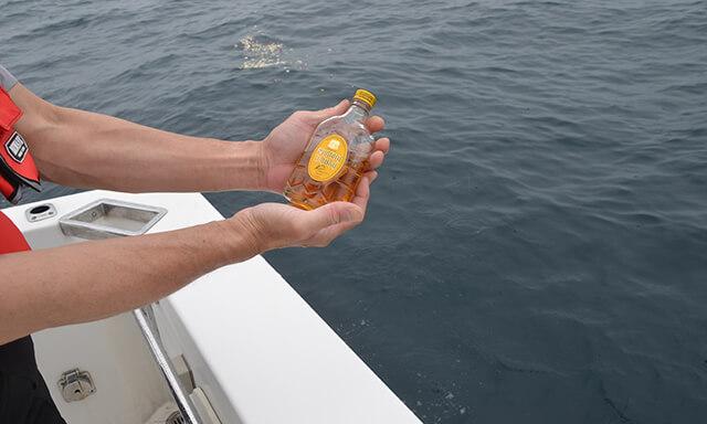 福井県若狭での海洋散骨での献酒