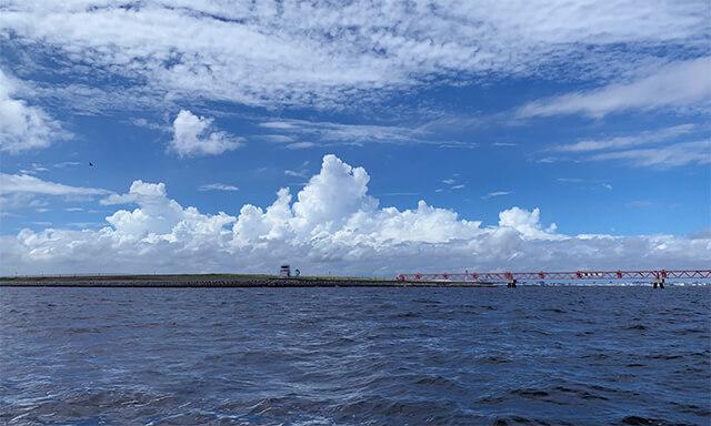 羽田沖での海洋散骨