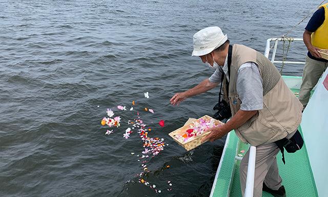 大阪湾での海洋散骨業者