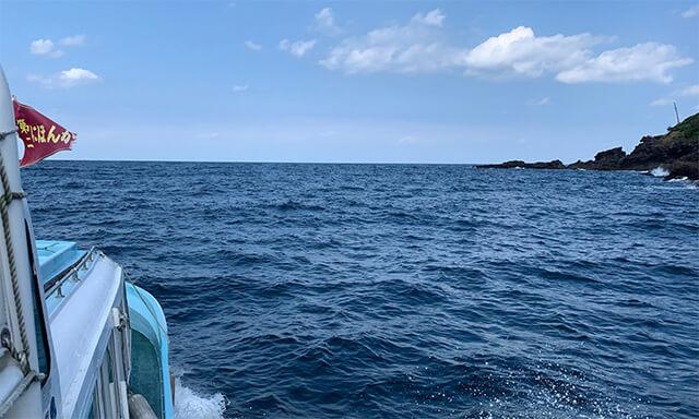 島根沖での海洋散骨