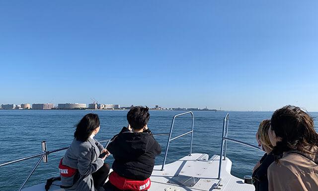 東京湾での海洋散骨事例
