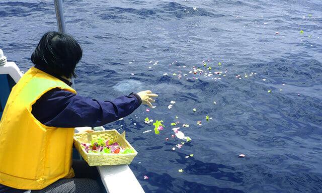 和歌山県南紀白浜での海洋散骨業者の散骨